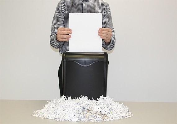 Employees shredding